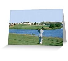 Golfing Legends : Peter Thompson - Australian Open Golf, The Lakes, Sydney, 1964 Greeting Card