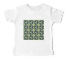 Majestic Navy and Yellow Geometric Floral Baby Tee