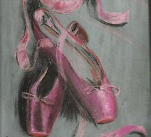 Pink Pointe Shoes by Pointeman1