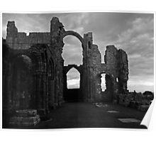 Lindisfarne Priory (B&W) Poster