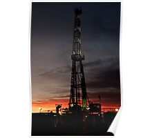 Outback on an Oilrig Poster