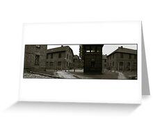 Auschwitz I Roll Call Hut (panoramic) Greeting Card