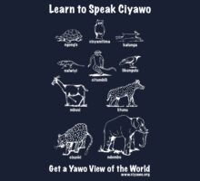 Learn to Speak Ciyawo: Get a Yawo View of the World (for dark shirts) Kids Tee
