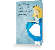 Alice in Wonderland inspired design (Alice). Greeting Card