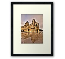 Heritage In Reflection - Royal Exhibition Building, Melbourne - The HDR Experience Framed Print
