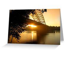 Sun Rise Under the Big Mac Greeting Card