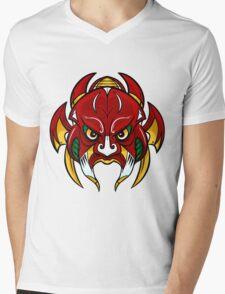 War Mask - Samurai inspired mask Mens V-Neck T-Shirt