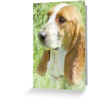 Thoughtful Hound Greeting Card