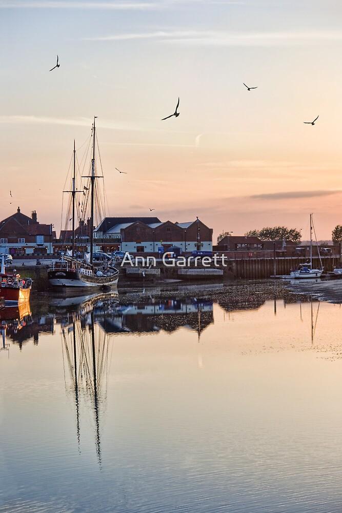Sunset Harbour, Wells-Next-The-Sea by Ann Garrett