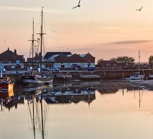 Sunset Harbour, Wells-Next-The-Sea by Ann Garrett