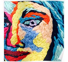 Embroidered Portrait Design Poster
