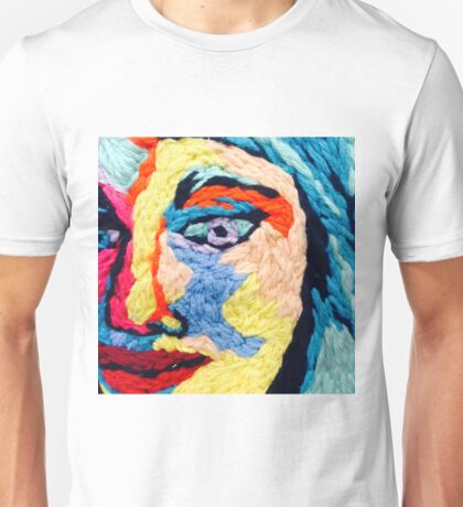 Embroidered Portrait Design Unisex T-Shirt