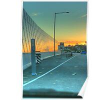 A Urban Sunset Poster