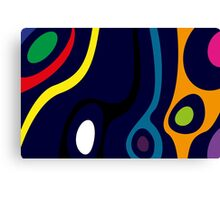 Colorful Organic Abstract Design Canvas Print