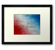 Patriotic America Text Graphic Framed Print