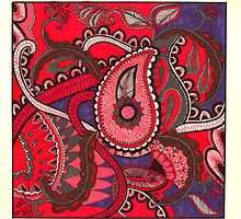 Paisley Octopus by Lenora Brown