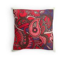 Paisley Octopus Throw Pillow