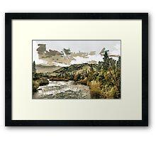 South Fork of the American River at Coloma in El Dorado County, California, USA Framed Print