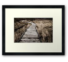 Malham Tarn Marsh Boardwalk Framed Print