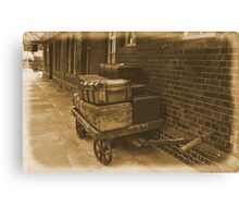 Luggage Trolley. Canvas Print