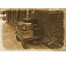 Luggage Trolley. Photographic Print