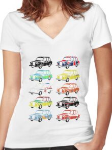 Celebrity Taxis Women's Fitted V-Neck T-Shirt
