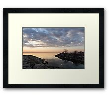 Reflecting on Quiet, Peaceful Mornings Framed Print