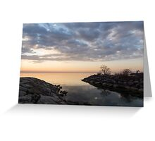 Reflecting on Quiet, Peaceful Mornings Greeting Card