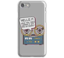 IT Crowd Inspired - Hello IT - Turn it Off and On Again - Tech Support Parody iPhone Case/Skin
