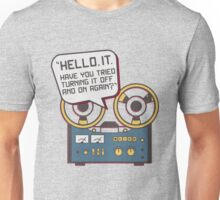 IT Crowd Inspired - Hello IT - Turn it Off and On Again - Tech Support Parody Unisex T-Shirt