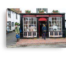 Post Office: Alfriston Village, East Sussex, England, UK. Canvas Print