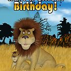 Have a Grrreat Birthday - Lion Birthday Card by Moonlake
