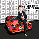 Gene Hunt Ashes to Ashes Happy Birthday Card by mattoakley