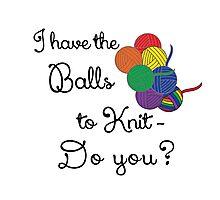 Balls 2 knit- Rainbow Photographic Print