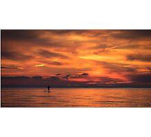 Sunset Paddler Photographic Print