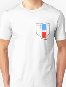 3D Glasses, Top Pocket T-Shirt