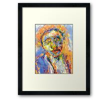 Abstract Mixed Media Portrait Framed Print