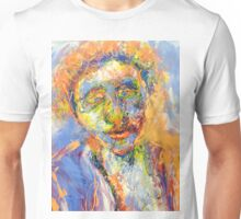 Abstract Mixed Media Portrait Unisex T-Shirt