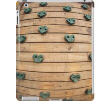 Wooden tool for climbing on the playground iPad Case/Skin