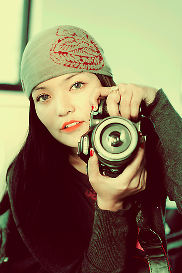 Portrait of a photographer by queenenigma
