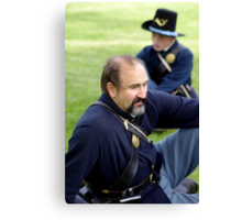 Union Soldier Contemplating the Coming Battle Canvas Print