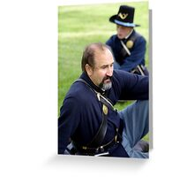 Union Soldier Contemplating the Coming Battle Greeting Card