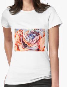 Rose Sculpture Womens Fitted T-Shirt
