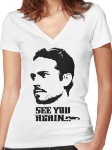 Tribute to Paul walker t shirt, iphone case & more Women's Fitted V-Neck T-Shirt
