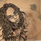 Self-portrait Study by Ashley Christine Valentin