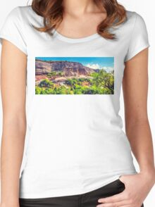 House in the rock Women's Fitted Scoop T-Shirt
