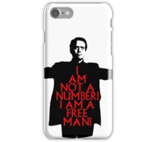 The Prisoner - I AM NOT A NUMBER! iPhone Case/Skin