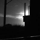 Train engine silhouette by Teresa Schultz