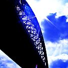 contrast between the bridge and the sky :D by xxnatbxx