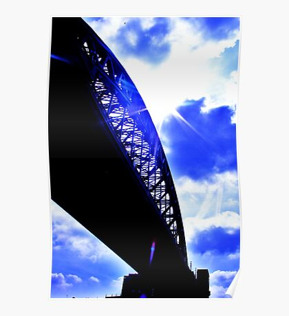 contrast between the bridge and the sky :D Poster